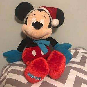 Disney large plush 2014 Christmas Mickey Mouse